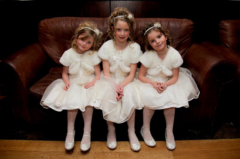 Three Little Bride's Maids and flower girls