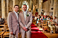 HDR Sketch Groom and Best Man Photographer Bristol and Leicestershire