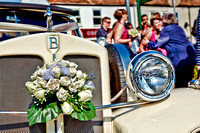 HDR Sketch Wedding Car - Photographer Bristol and Leicestershire