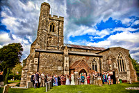 HDR Sketch Church of England Wedding Near Luton - Photographer Bristol and Leicestershire