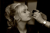 Makeup being done before the wedding - wedding Photographer Bristol and Leicestershire