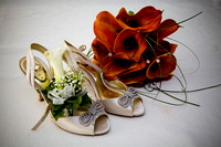 Bride's Shoe and Flowers Wedding Photographers Leicester and Bristol