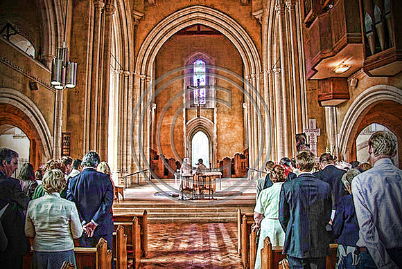 HDR Sketch Wedding At Ealing Abbey